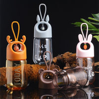 Shaking Cup Drinking Bottle Brown - iKids