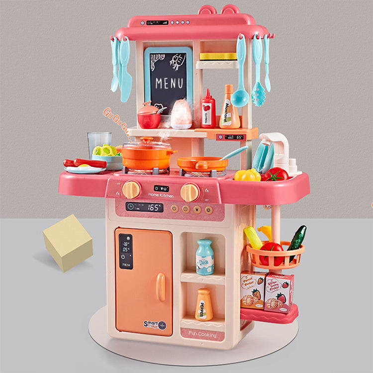 Kitchen Toy Set with Steam Pink - iKids