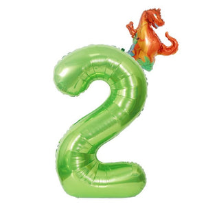 Dinosaur Birthday Balloon Number 2 - iKids