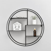 Metal Round Shelf Black - iKids