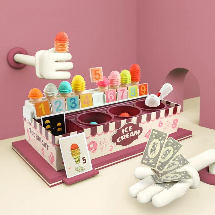 TOP BRIGHT Ice Cream Counter- iKids