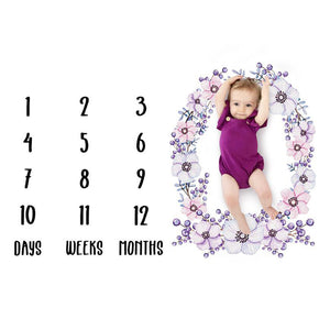 Baby Monthly Blanket Purple - iKids