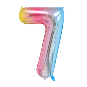 Rainbow Birthday Balloon Number 7 - iKids