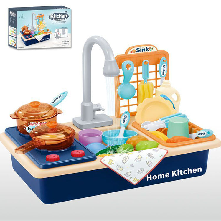 Kitchen Sink Toy with Stove Blue - iKids