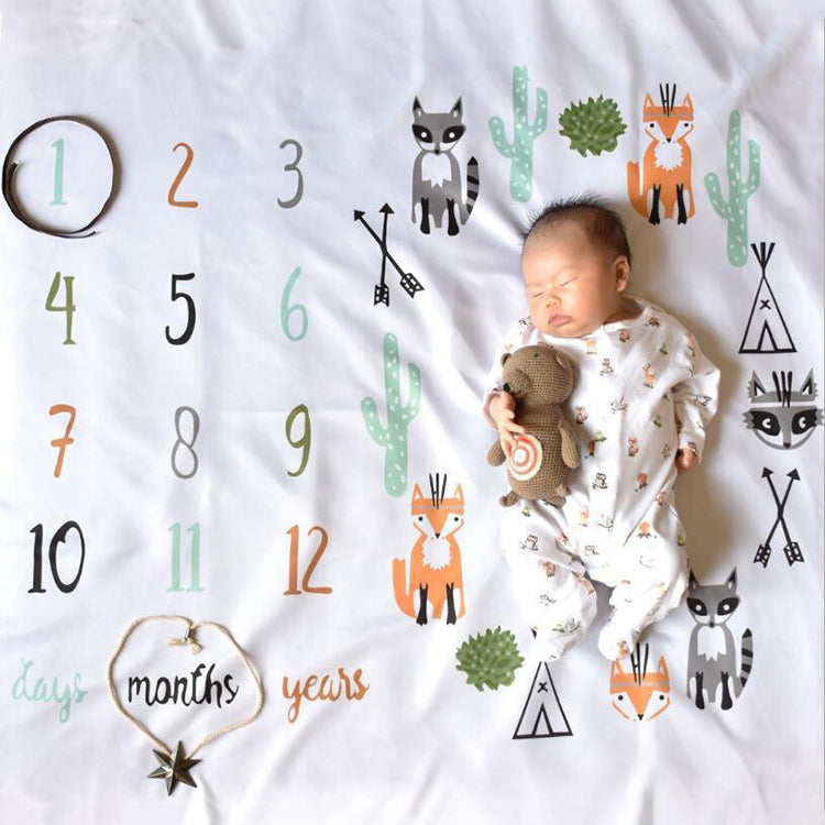 Baby Monthly Blanket Fox - iKids