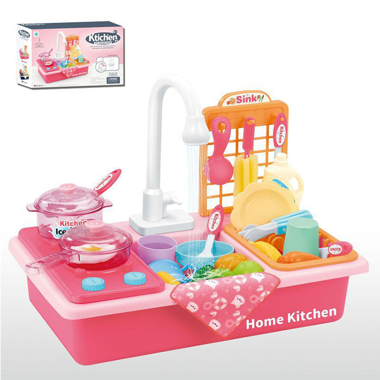 Kitchen Sink Toy with Stove Pink - iKids
