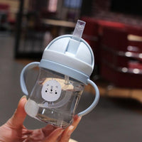 Baby Straw Bottle Blue - iKids