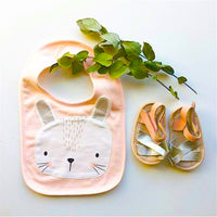 Forest Face Bib Rabbit Pink - iKids
