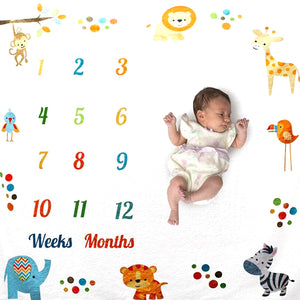 Baby Monthly Blanket Animal - iKids