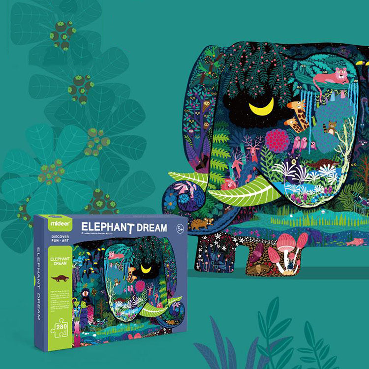 Mideer Animal Shaped Puzzle – Elephant Dream - iKids