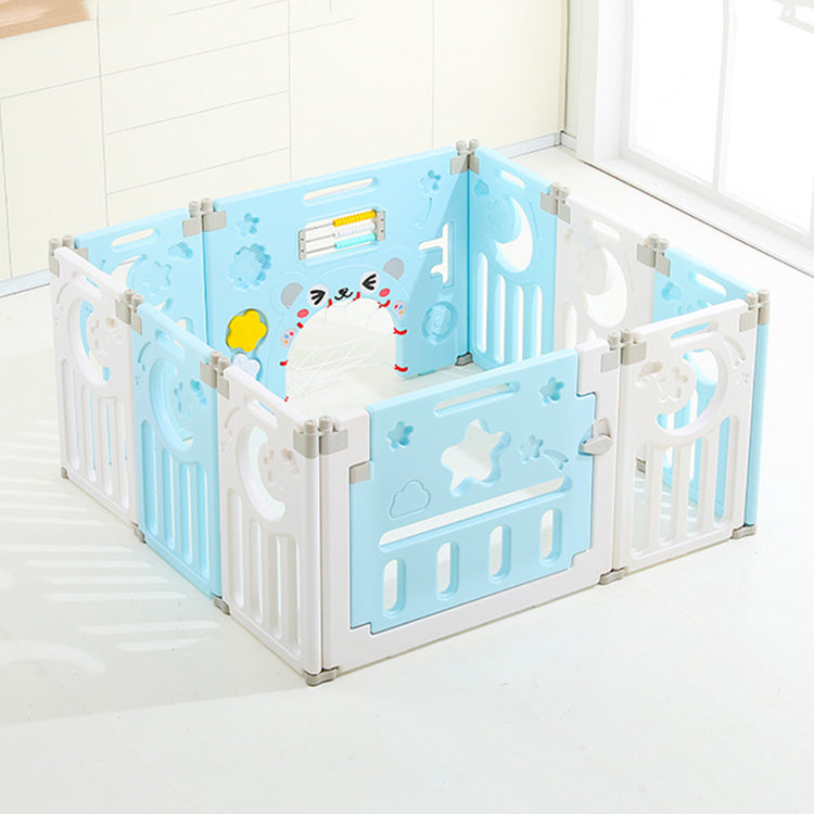 Baby Foldable Playpen Blue - iKids