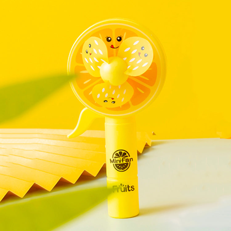 Orange Hand Pressure Mini Fan - iKids