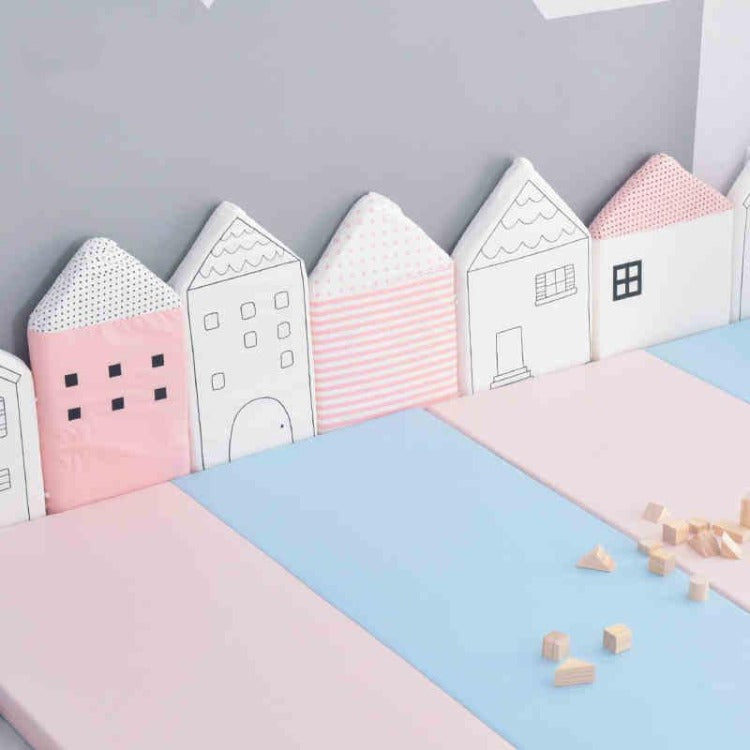 Pink House Bumper Cushion - iKids