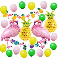 Flamingo Birthday Party Decorations Balloons - iKids
