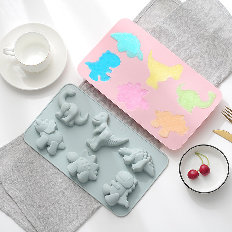 Baby Food Silicone Mold 6 Dinosaur - iKids