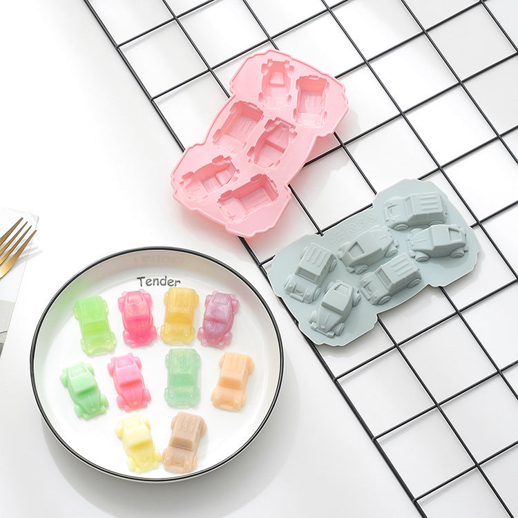 Baby Food Silicone Mold 6 Car - iKids