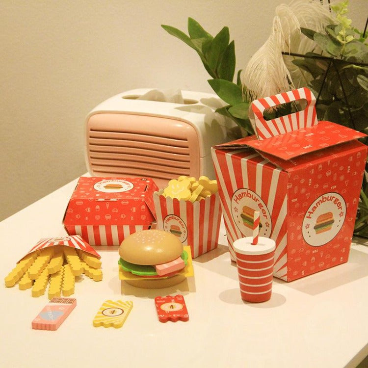 Fast food Wooden Toy Set - iKids