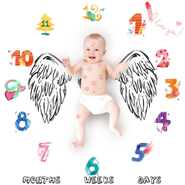 Baby Monthly Blanket Angel - iKids