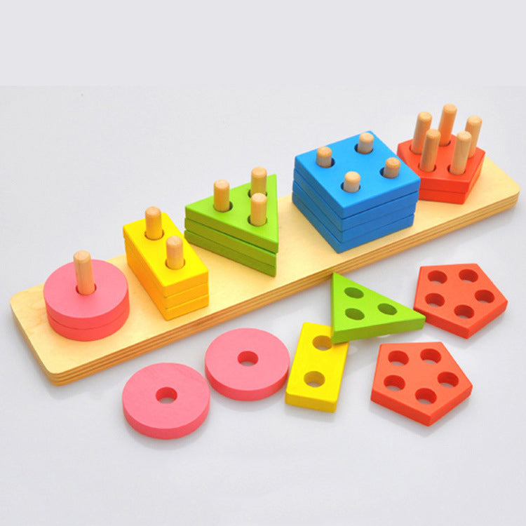 Geometric Shapes Pairing Block - iKids