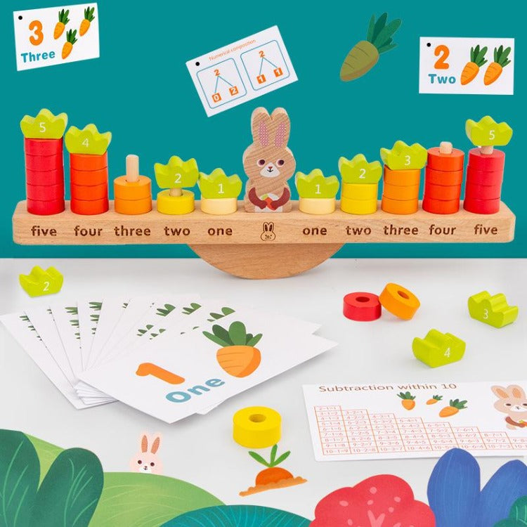 Rabbit Balance Math Building Blocks - iKids