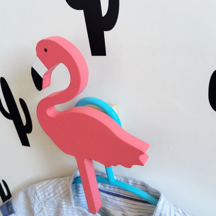 Flamingo Wall Hook Red - iKids