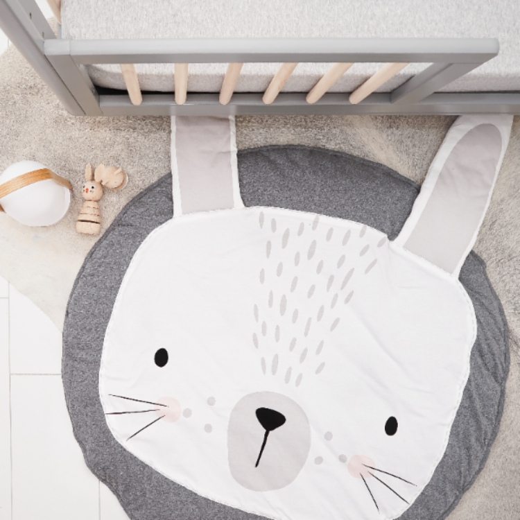Forest Play Mat Rabbit Grey - iKids