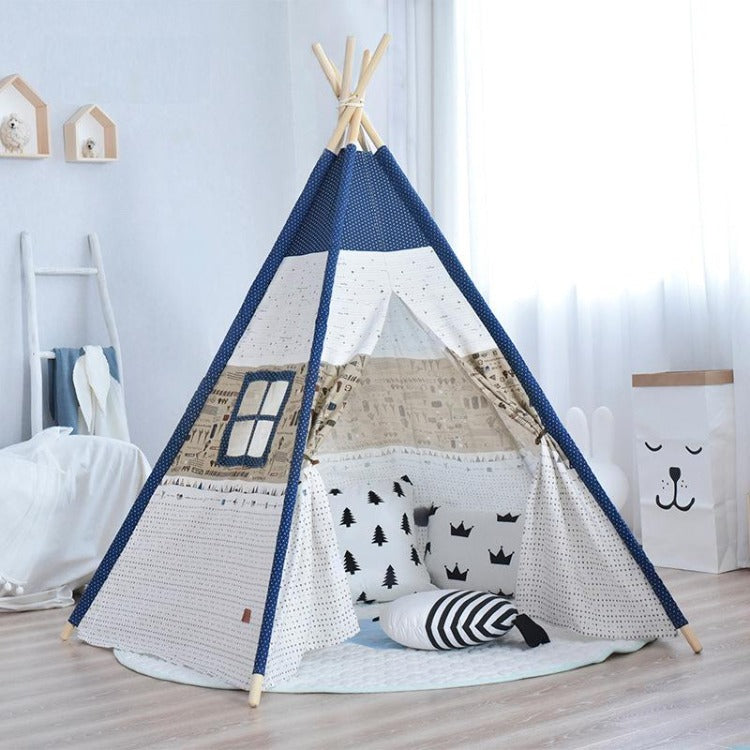 Deluxe Teepee Tent Blue Planes - iKids
