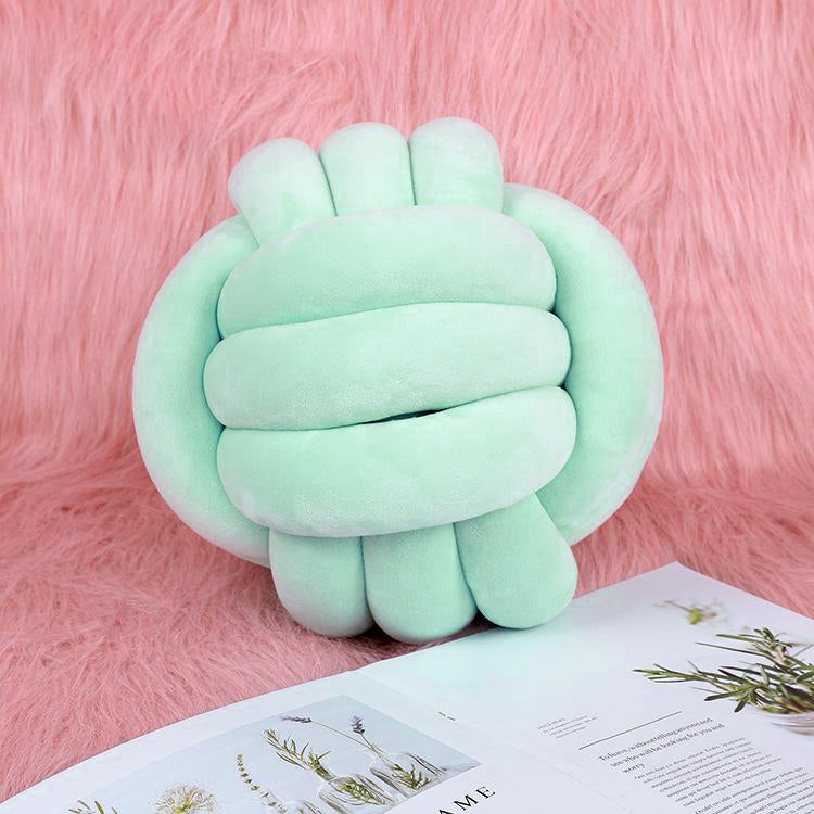 Knot Ball Cushion Green - iKids