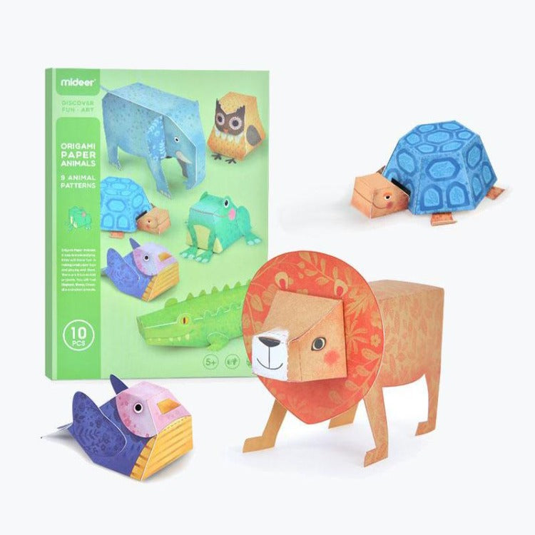 Mideer Origami Paper Animals 3D Paper Craft Toy - iKids