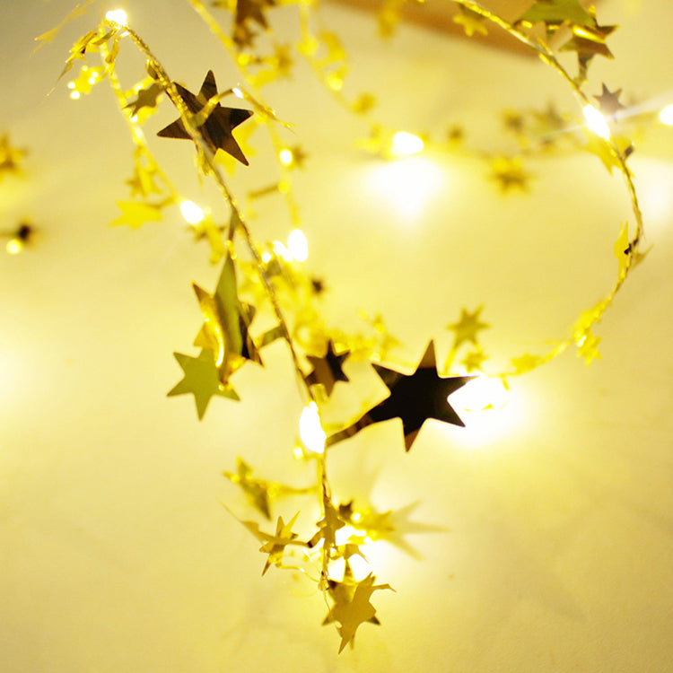 Gold Stars Garland String Lights - iKids