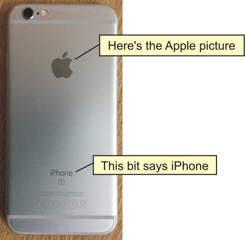 the iPhone has a picture of an Apple on the back of it