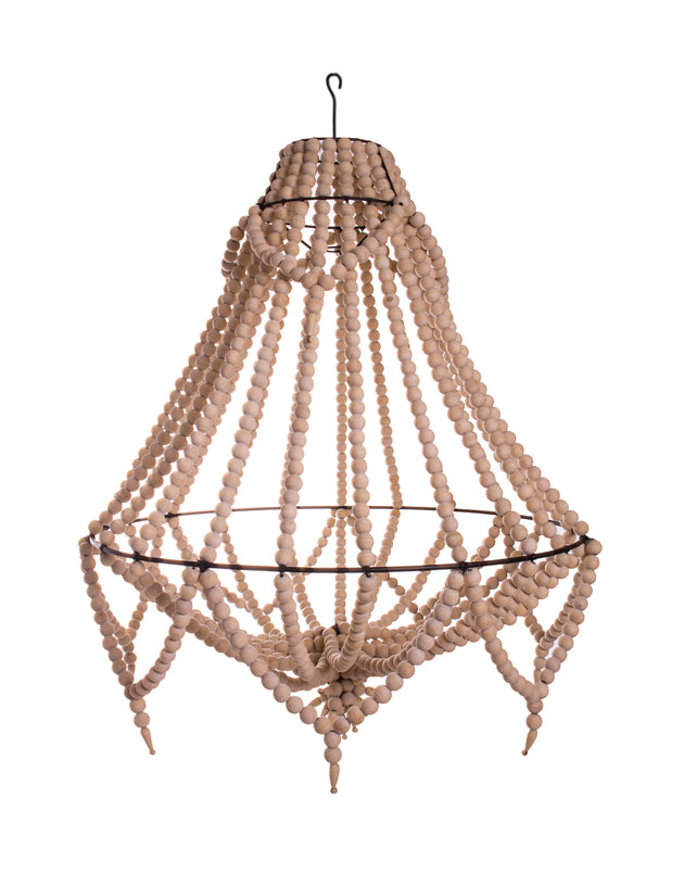 Empire Beaded Chandelier - Natural & Black