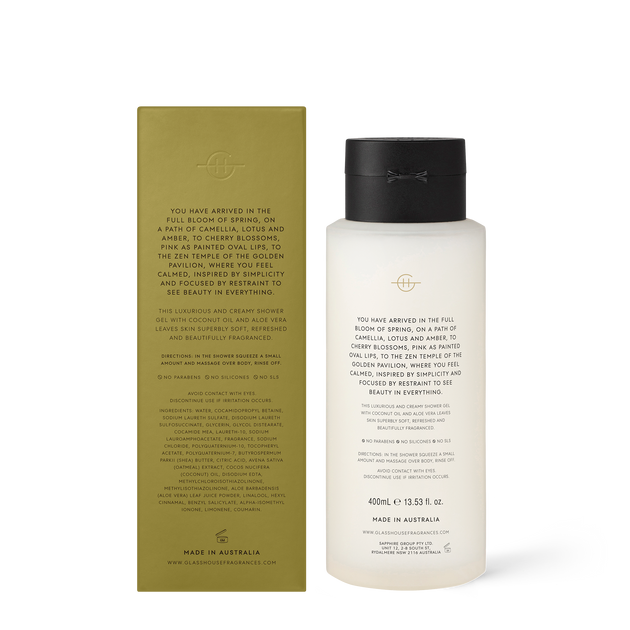 GLASSHOUSE KYOTO IN BLOOM - SHOWER GEL 400ml