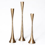 Artisan Candlestand holder - Set of 3 - Antique Brass - COMING SOON!