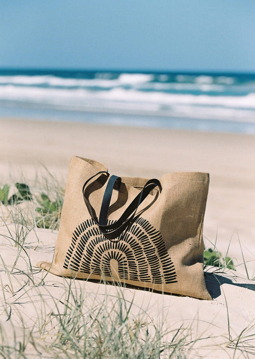 The Beach People - Poesie Jute Bag