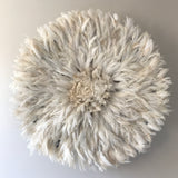 Bamileke Feather Juju Hat - White