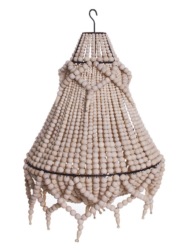 Empress Beaded Chandelier - Natural & White
