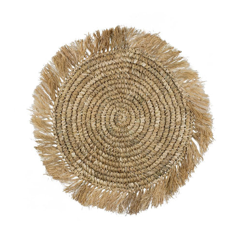 Raffia Fringe Placemats - Natural - COMING SOON