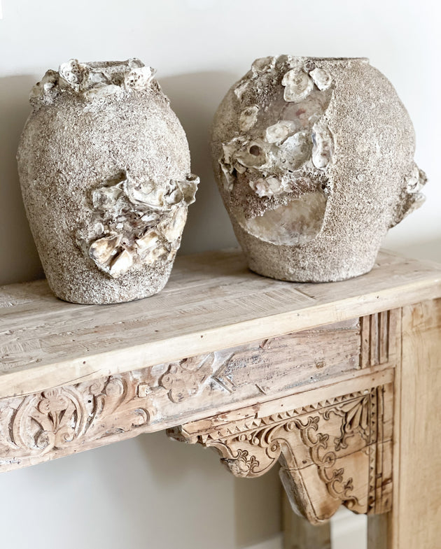 Barnacle & Shell Clustered Pots