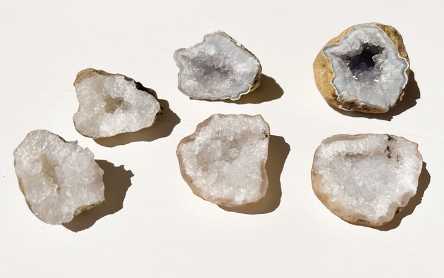 Itty Bitty Mini Geode Pairs - Clear Quartz