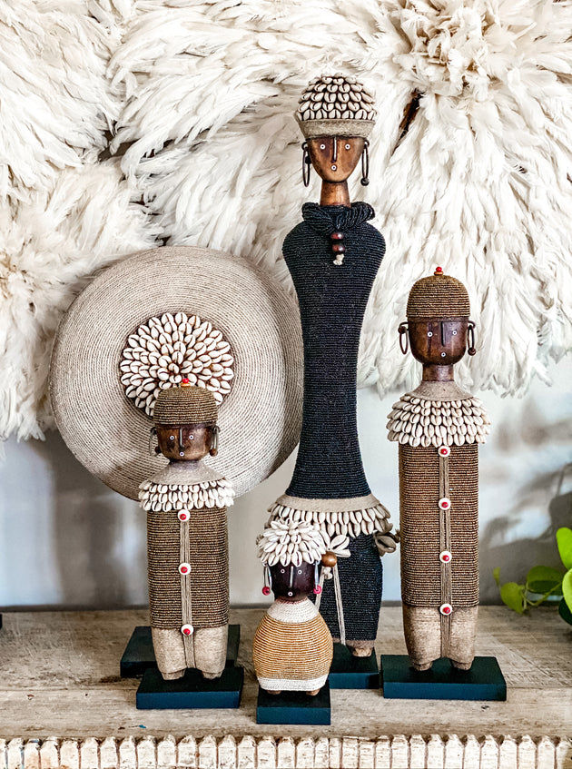 Tall Namji Doll - Black Beads