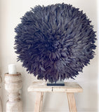 Bamileke Feather Juju Hat - Black