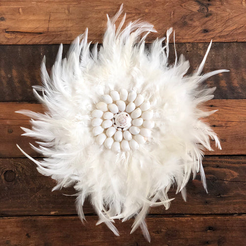 Mini Feather & Shell Wall Hanging