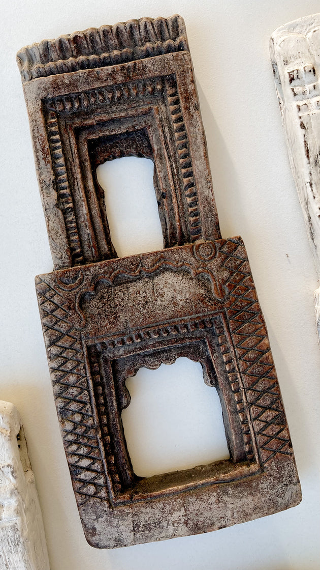 Indian Temple Frame - Antique Clay