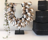Cowrie Tribal Shell Collars - 3 Tiers - Natural