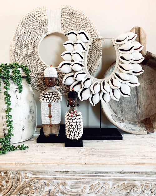 Cowrie Tribal Shell Collar - 2 Tiers