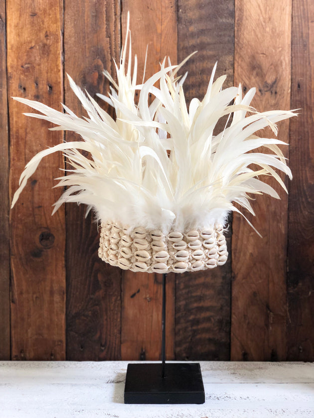 White Warrior Feather Crown