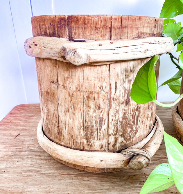 Vintage Chinese Wooden Pots