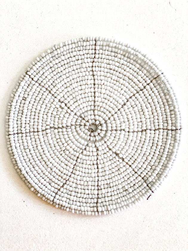 Beaded Placemats & Coasters - Natural & White