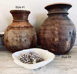 Wooden Oil Pots - Indian